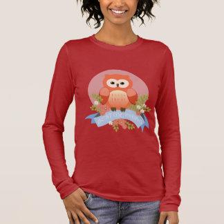 Owl best grandma flower banner long sleeve T-Shirt