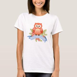 Owl best grandma flower banner T-Shirt