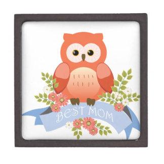 Owl best mom flower banner premium gift box