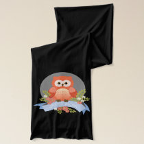 Owl best mom flower banner scarf