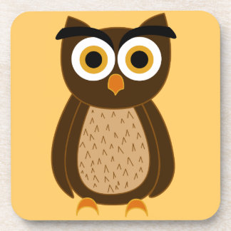 owl beverage coaster