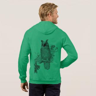 Owl Bird Animal Tree Green Destiny Destiny's Hoodie