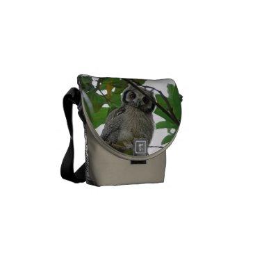 Bride Themed Owl Bird Animal Tree Green Destiny's Destiny Courier Bag