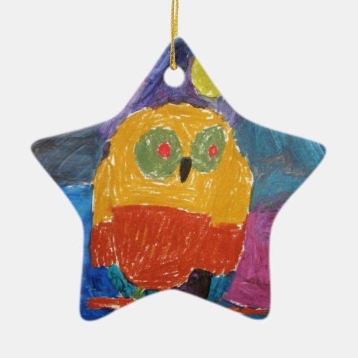 Owl bird christmas ornament