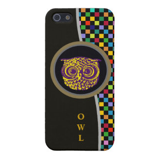 owl bird & colored pixels cover for iPhone SE/5/5s