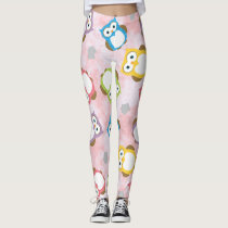 Owl Bird Cute Leggings Pants