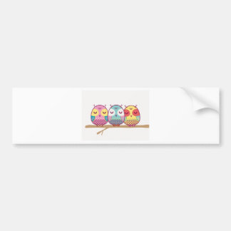 Owl Bird Cute Party Congratulations Shower Destiny Bumper Stickers