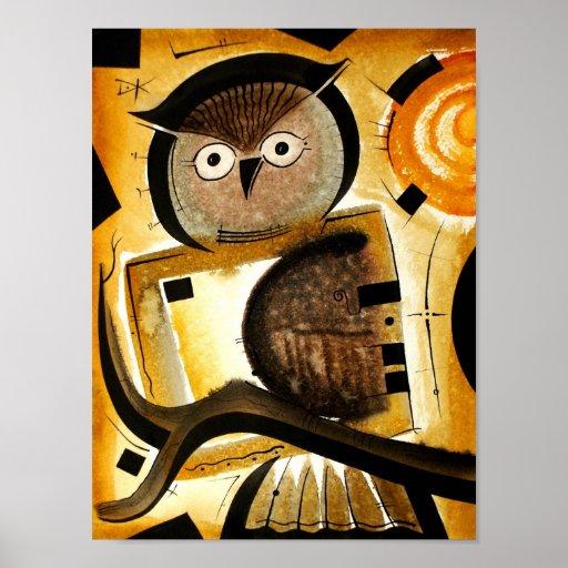 Owl bird  dk_2005aug8r print