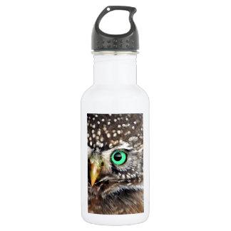Owl Bird Eyes Tree nature wise 18oz Water Bottle