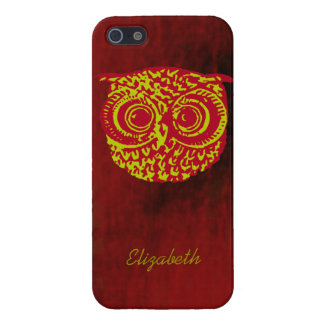 owl bird face to add name cover for iPhone SE/5/5s
