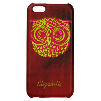 owl bird face to add name iPhone 5C case