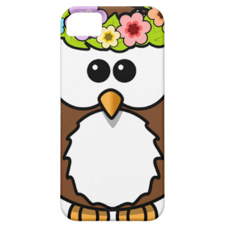 Owl Bird Feather Flowers Personalize Name Custom iPhone SE/5/5s Case