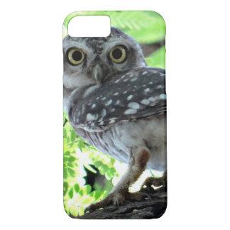Owl Bird Feathers Park Peace Hope Love Art iPhone 8/7 Case