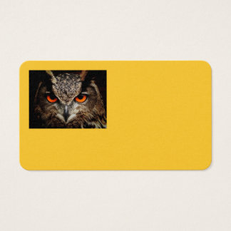 Owl Bird Feathers Wing Flight Nature Office Business Card
