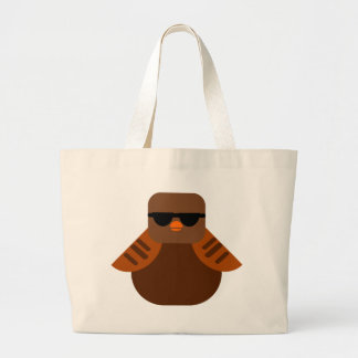 owl bird gufo large tote bag