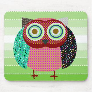 owl bird gufo mouse pads