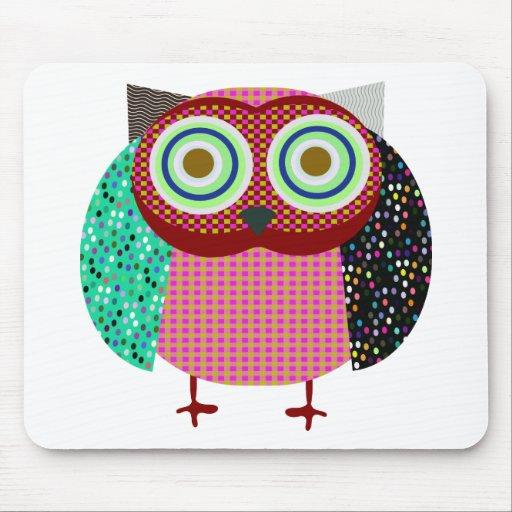 owl bird gufo mousepads