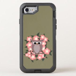 owl bird on a cherry tree OtterBox defender iPhone 7 case