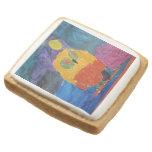 Owl Bird Square Premium Shortbread Cookie