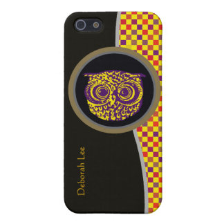owl bird yellow pixels cover for iPhone SE/5/5s
