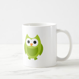 Owl Birds Green Cute Cartoon Coffee Mug