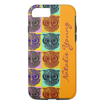owl birds pattern / name iPhone 8/7 case