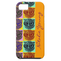 owl birds pattern / name iPhone SE/5/5s case
