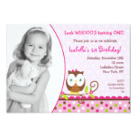 "Owl Birthday Invitations 5"" X 7"" Invitation Card"