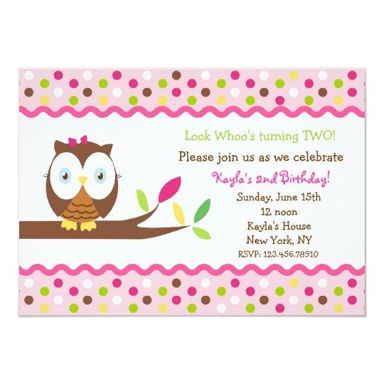 Blank Owl Baby Shower Invitations: Owl Birthday Party Baby Shower Invitations