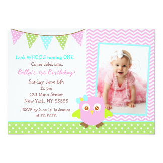 Owl Birthday Party Invitation