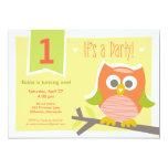 "Owl Birthday Party Invitation 5"" X 7"" Invitation Card"