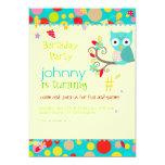 Owl, birthday party invitations/diy background