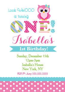 Owl birthday invitations zazzle owl birthday party invitations for girl filmwisefo