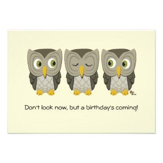 Owl Birthday Party Invite