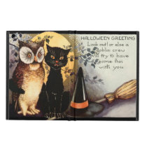 Owl Black Cat Full Moon Witch's Hat iPad Air Cover