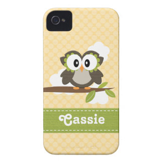 Owl BlackBerry Bold Case Mate Cover Yellow