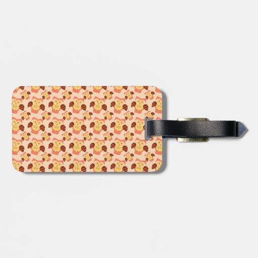 Owl blossom travel bag tag