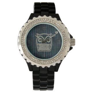 Owl Blue Grunge Fancy Wristwatch