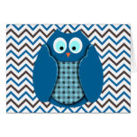 Owl - Blue with Polka Dots Card