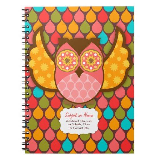 Owl Boheme Custom Spiral Notebook