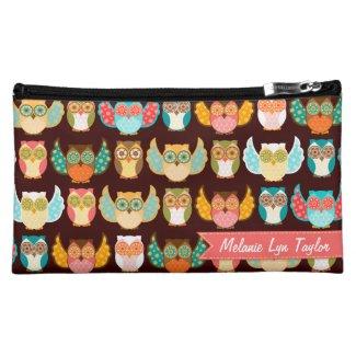 Owl Boheme Pattern - Custom Cosmetics Bag Cosmetics Bags