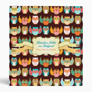 Owl Boheme Pattern - Custom Organizer Binder