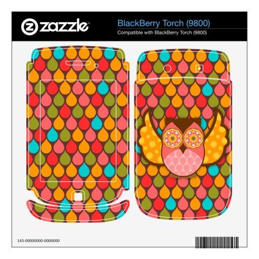 Owl Boheme Pink BlackBerry Skin