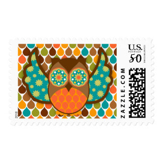 Owl Boheme Teal & Brown Postage