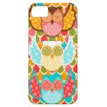 Owl Boheme Three Colorful Owls iPhone 5 Case