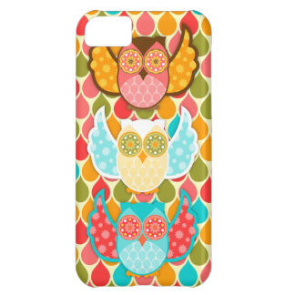 Owl Boheme Three Colorful Owls iPhone 5C Cases