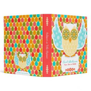 Owl Boheme White Binder