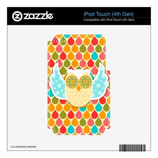 Owl Boheme White Decals For iPod Touch 4G