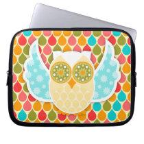 Owl Boheme White Laptop Sleeve