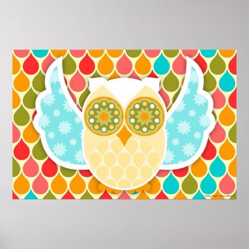 Owl Boheme White Owl Art Poster